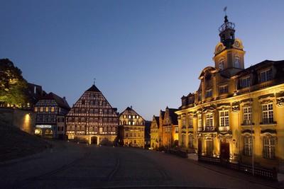 Schwäbisch Hall_Marktplatz bei Nacht