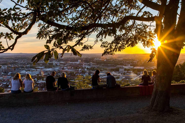 Heilbronn_Blick vom Wartberg auf die Stadt