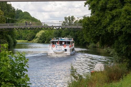 Neckar Käpt'n - Heck der MS Wilhelma, Flussschifffahrt bei Stuttgart