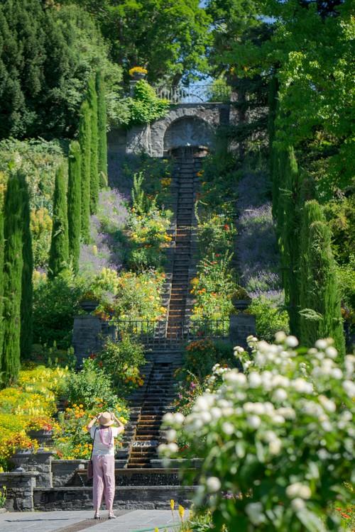 Blumeninsel Mainau am Bodensee, Italienische Blumen-Wassertreppe