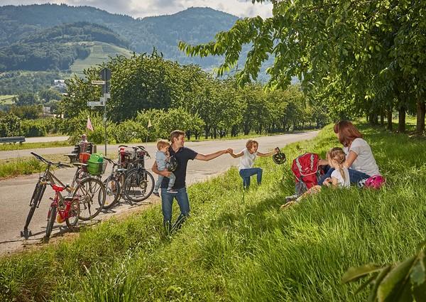 Schwarzwald_Achertal_Familienferien_Radfahren Pause