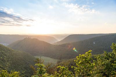 Schwäbische Alb_Donautal Sonnenaufgang
