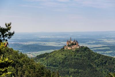 Blick auf die Burg Hohenzollern